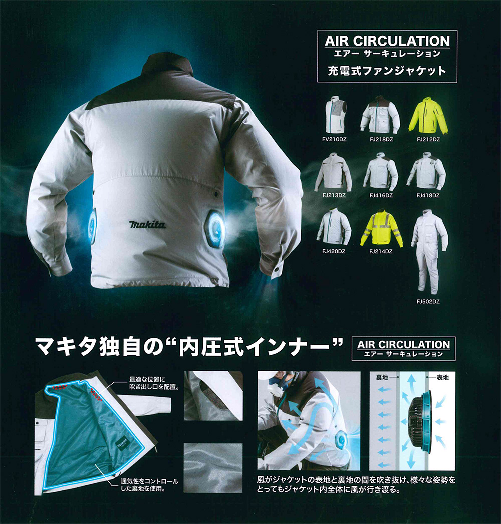 マキタ ファンジャケット(空調服)